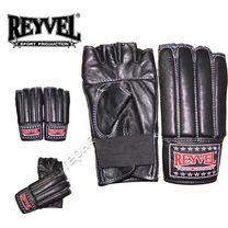Перчатки для работы на снарядах Special REYVEL кожа (0176-bk, черные)