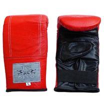 Снарядные перчатки Thai Professional из натуральной кожи (TPBG6-R, красные)