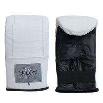 Снарядные перчатки Thai Professional из натуральной кожи (TPBG6-W, белые)