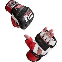 Снарядные перчатки TITLE с открытыми пальцами MMA Gel Bag Gloves (MMGBG, черно-красные)