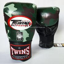 Снарядные перчатки Twins из натуральной кожи (FTBGL-1F-JG, зеленый камуфляж)