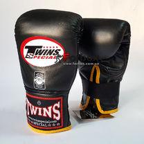 Снарядные перчатки Twins кожаные (TBGL-1F-BKY, черно-желтый)