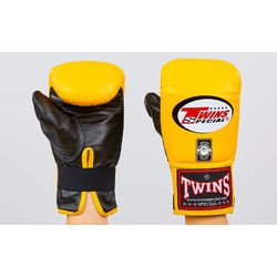 Снарядные перчатки Twins кожаные (TBGL-1F-Y, желтый)