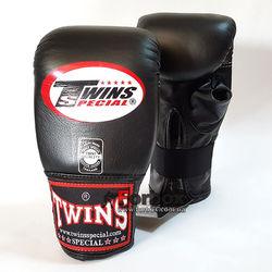 Снарядные перчатки Twins кожаные (TBGL-1H-BK, черный)