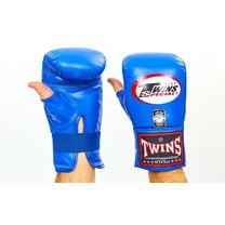 Снарядные перчатки Twins кожаные (TBGL-1H-BU, синий)