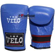 Снарядные перчатки кожа Velo (ULI-4005-B, синие)