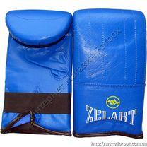 Снарядные перчатки Zelart кожаные (MA-0036, синие)