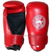 Перчатки для тхэквондо ITF Zelart из PU кожи (MA-4767, красные)