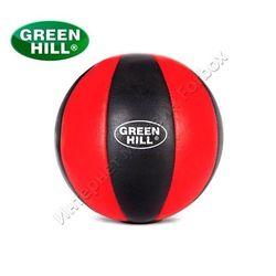 Медбол Green Hill медичний мяч із шкіри 2кг (MB-5066, червоно-чорний)