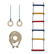 Комплект канат, кольца, веревочная лестница SportKo
