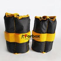 Утяжелитель манжеты для рук и ног Zelart UR 2*2кг (ZA-2072-4, черно-желтый)