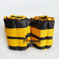 Утяжелитель манжеты для рук и ног Zelart UR 2*2,5кг (ZA-2072-5, черно-желтый)