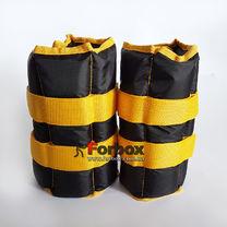 Утяжелитель манжеты для рук и ног Zelart UR 2*3кг (ZA-2072-6, черно-желтый)