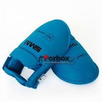 Защита подъема стопы футы для каратэ Smai с аккредитацией WKF (SM P102-BOOT-B, синие)