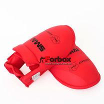 Защита подъема стопы футы для каратэ Smai с аккредитацией WKF (SM P102-BOOT-R, красные)
