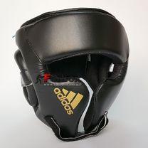 Шлем боксерский тренировочный Adidas Cheek Protection (adiBHGH01, черный с золотом)