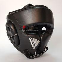 Шлем боксерский тренировочный Adidas Cheek Protection (adiBHGH01, черный с серебром)