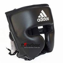 Шлем боксерский профессиональный AdiStar Pro Head Gear кожа (ADIPHG01-BK, черный)