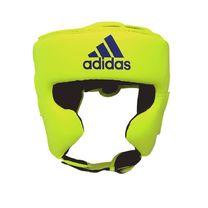 Шлем боксерский Adidas Speed Headguard без подбородка PU кожа (ADISBHG042, зеленый)