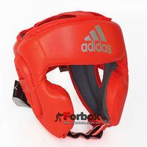 Шлем боксерский Adidas Speed Headguard без подбородка PU кожа (ADISBHG042, оранжевый)