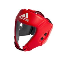 Боксерский шлем Adidas с лицензией AIBA для соревнований (AIBAH1, красный)