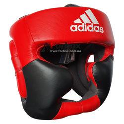Шлем тренировочный Adidas Super Pro Extra Protect из натуральной кожи (ADIBHG041, красно-черный)