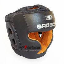 Шолом боксерський BAD BOY з повним захистом зі шкіри (VL-6621, чорний)