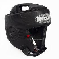 Шлем боксерский без бороды Boxer из кожи Элит (2029-01Ч, черный)