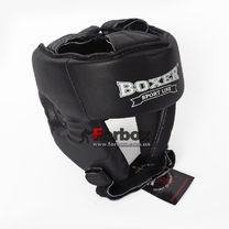 Шлем боксерский турнирный Boxer на шнурках серии Элит (2034-01Ч, черный)