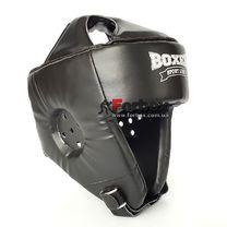 Шлем боксерский без бороды Boxer из кожвинила серии Элит  (2035-01Ч, черный)