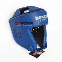 Шлем боксерский без бороды Boxer из кожвинила серии Элит  (2035-01С, синий)