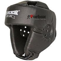 Шлем боксерский Boxer открытый с усиленной защитой макушки (2030-01Ч, черный)
