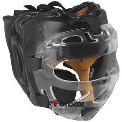 Шолом з пластиковою маскою Everlast (PU чорний, ZB-5209)