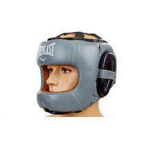 Шлем боксерский Everlast с бампером Flex (BO-5340, серый)