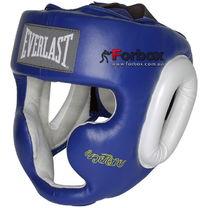 Шлем тренировочный Everlast кожаный Muay Thai (860406, синий)