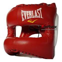 Шлем с бампером Элит MX Headgear Everlast (310400, красно-белый)