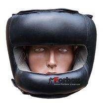 Шлем боксерский с бампером из кожи Fire Power (FPHG6, Черный)