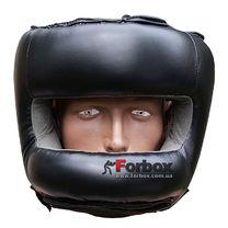 Шолом боксерський із бампером штучна шкіра Fire Power (FPHGA6, Чорний)