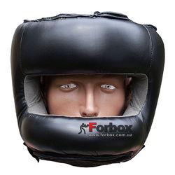 Шлем боксерский с бампером из кожзама Fire Power (FPHGA6, Черный)