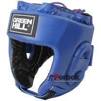 Турнирный шлем Green Hill с аккредитацией Федерации бокса Украины (HGT-9411L, синий)