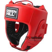 Турнирный шлем Green Hill с аккредитацией Федерации бокса Украины (HGT-9411L, красный)