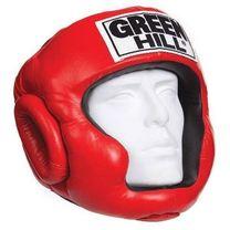 Тренировочный шлем Green Hill Super кожа (HGS-4018, красный)