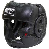 Тренувальний шолом Green Hill Super шкіра (HGS-4018, чорний)