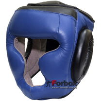 Шолом тренувальний закритий Lev sport шкіра (1305-bl, синій)