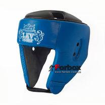 Шлем боксерский Lev sport кожа (1311-bl, синий)