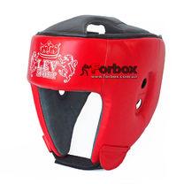 Шлем боксерский Lev sport кожа (1311-rd, красный)