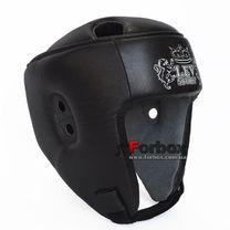 Шлем боксерский Lev sport кожа (1311-bk, черный)