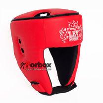 Шлем боксерский Lev sport кожзам (1312-rd, красный)