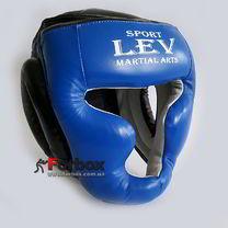 УЦЕНКА Шлем тренировочный Lev Sport из кожи синий размер Л