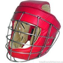 Шлем с металлическим забралом кожа Lm